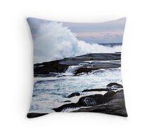 Ferocious Ocean -- Peggy's Cove, Nova Scotia Throw Pillow