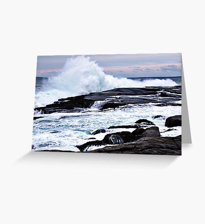 Ferocious Ocean -- Peggy's Cove, Nova Scotia Greeting Card