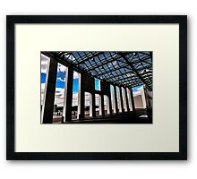 The front of Australia's Parliament House looking out. Framed Print