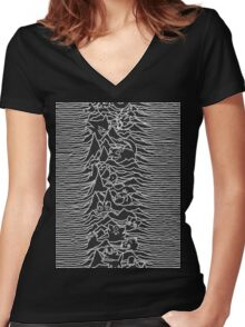 Division Waves Parody Women's Fitted V-Neck T-Shirt