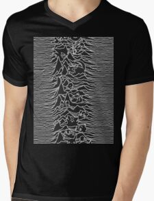 Division Waves Parody Mens V-Neck T-Shirt