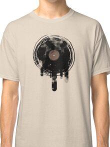 Cool Melting Vinyl Records Retro Music DJ! Classic T-Shirt