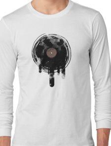 Cool Melting Vinyl Records Retro Music DJ! Long Sleeve T-Shirt