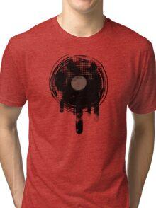 Cool Melting Vinyl Records Retro Music DJ! Tri-blend T-Shirt