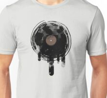 Cool Melting Vinyl Records Vintage Music T-Shirt Unisex T-Shirt