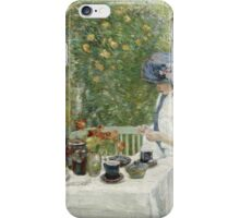 Vintage famous art - Childe Hassam - French Tea Garden iPhone Case/Skin