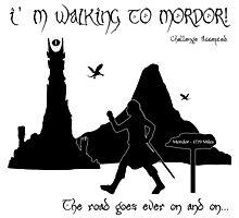 Walking to Mordor! Photographic Print