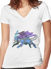Pokezoids Suicune Women's Fitted V-Neck T-Shirt