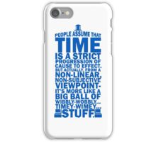 Doctor Who Time Quotes iPhone Case/Skin