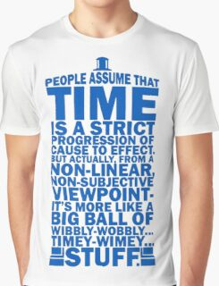 Doctor Who Time Quotes Graphic T-Shirt