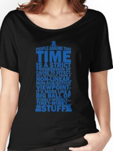Doctor Who Time Quotes Women's Relaxed Fit T-Shirt