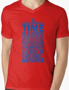 Doctor Who Time Quotes Mens V-Neck T-Shirt