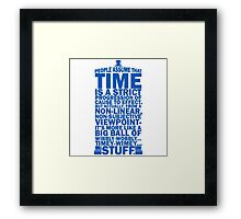 Doctor Who Time Quotes Framed Print