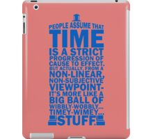 Doctor Who Time Quotes iPad Case/Skin