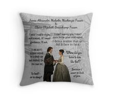 Outlander Wedding Quotes Throw Pillow