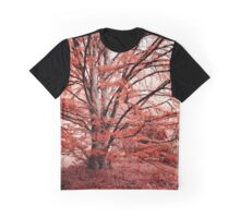 Tree in the Red Garden Graphic T-Shirt