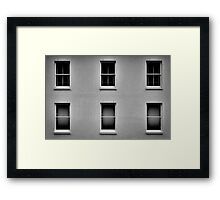 White Building Windows No.2 Framed Print