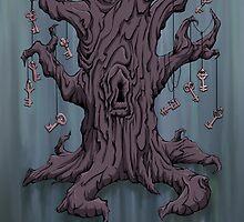 Gnarled Tree with Skeleton Keys in Blue by SuspendedDreams