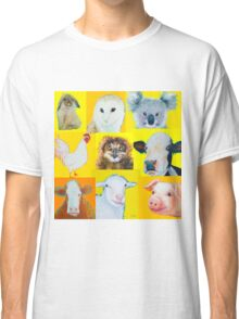 Animal painting collage for nursery wall Classic T-Shirt