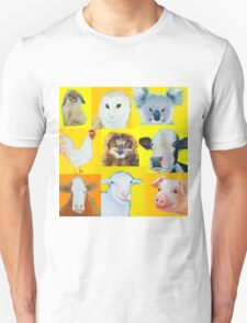Animal painting collage for nursery wall T-Shirt