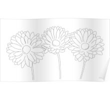 Simple Flower Sketch Poster