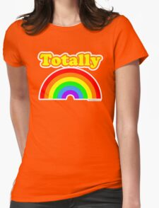 Totally Rainbow Logo Womens Fitted T-Shirt