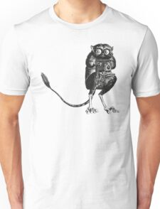 Say Cheese! | Tarsier with Vintage Camera Unisex T-Shirt