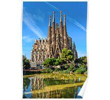 Sagrada Familia basilica in Barcelona Poster