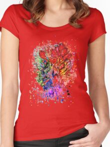Tulips Grunge Sketch Women's Fitted Scoop T-Shirt