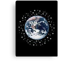 The Earth set amid innumerable stars Canvas Print