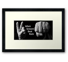 When Scissors Beat Rock Framed Print