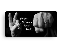 When Scissors Beat Rock Canvas Print
