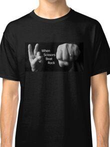 When Scissors Beat Rock Classic T-Shirt