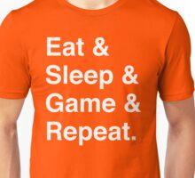 Eat & Sleep & Game & Repeat. Unisex T-Shirt