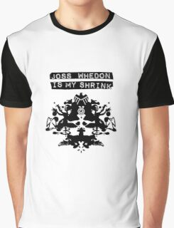 """Joss Whedon Is My Shrink"" - Dark Graphic T-Shirt"