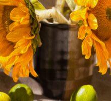 Still Life with Sunflowers Sticker