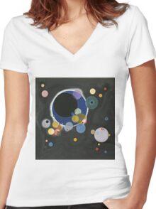 Kandinsky - Several Circles (Einige Kreise) Women's Fitted V-Neck T-Shirt