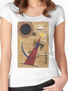 Kandinsky - Rot In Spitzform 1925  Women's Fitted Scoop T-Shirt