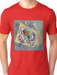 Kandinsky - Red Oval Unisex T-Shirt