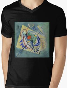 Kandinsky - Red Oval Mens V-Neck T-Shirt