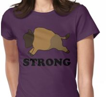 Strong Bison -Purple Womens Fitted T-Shirt