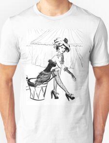 Fashion Circus Girl Portrait Unisex T-Shirt