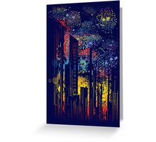 starry city lights Greeting Card