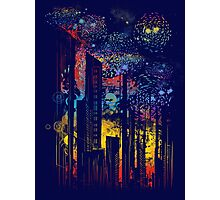 starry city lights Photographic Print