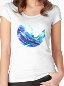 graphic wave Women's Fitted Scoop T-Shirt