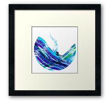 graphic wave Framed Print