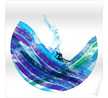 graphic wave Poster