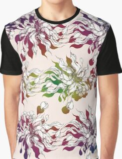 floral seamless pattern with hand drawn flowering crocus Graphic T-Shirt