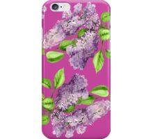 Blooming lilac branch seamless pattern. Floral pattern. iPhone Case/Skin