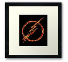 speed lightning Framed Print